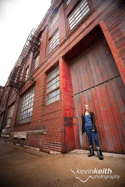 Kansas City High School Senior Photography at the West Bottoms by Kevin Keith Photography