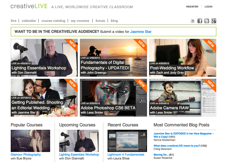 Creative Live Website Home Page