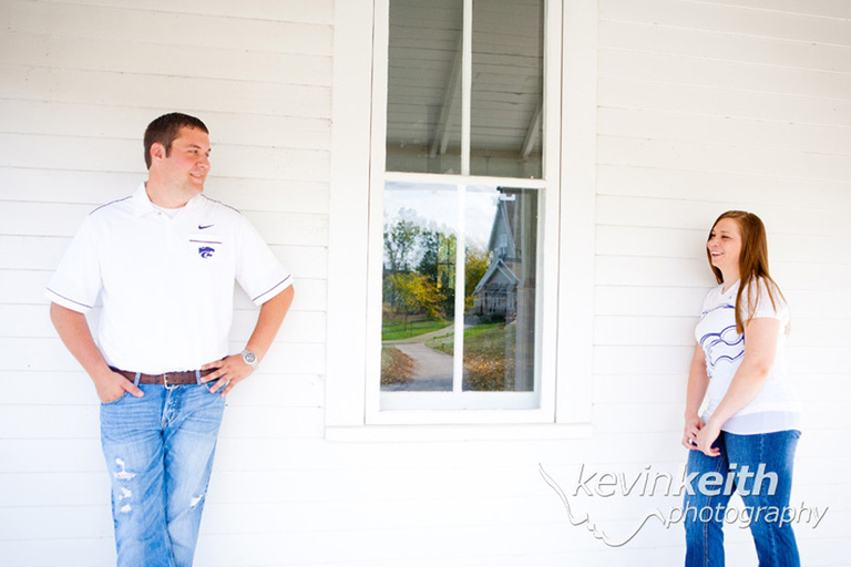 Matt and Lindsey's Engagement Photo Session at Ironwoods Lodge in Leawood Kansas by Kevin Keith Photography 03
