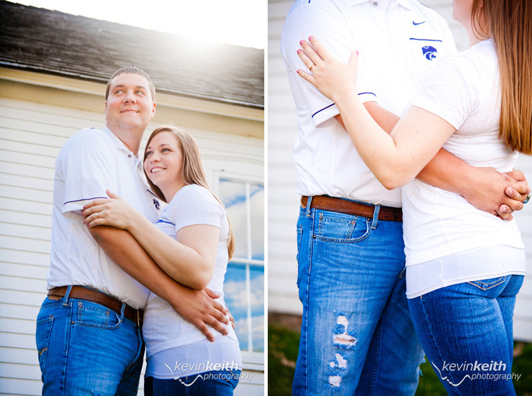 Matt and Lindsey's Engagement Photo Session at Ironwoods Lodge in Leawood Kansas by Kevin Keith Photography 39