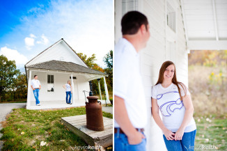 Matt and Lindsey's Engagement Photo Session at Ironwoods Lodge in Leawood Kansas by Kevin Keith Photography 34