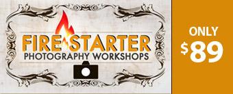 fire starter photography workshops